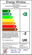 Certificate of Altus' Ability to Supply & Fit 'B'-Rated Energy-Rated Windows