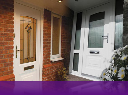 a montage of some Rockdoor Leicestershire front doors