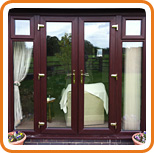 A photo of a UPVC french door