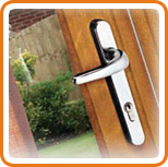 A photo of a door handle