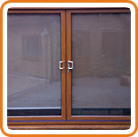 A photo of a UPVC patio door