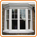 A photo of a vertical sliding sash window
