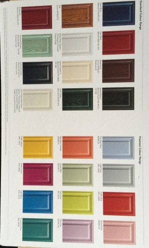 Photo: Range of different colours for your composite door