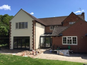 Photo: Luxury extension and conservatory in Rotherby, North West Leicestershire.