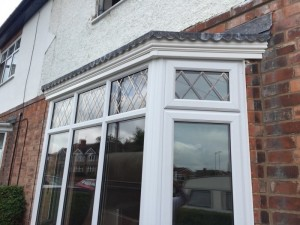 Photo: Leadwork and Fascia on a bay window in burbage, leicestershire