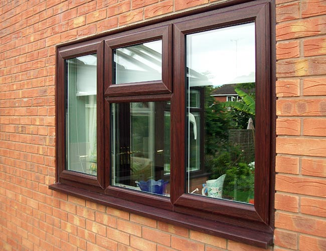 Coloured windows wood effect windows from altus windows for Best price wood windows