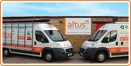 A photo of the new Altus Windows van livery
