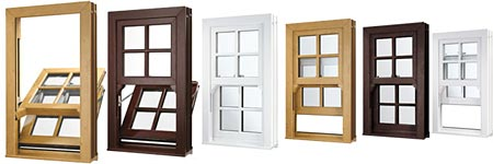 a montage of sash windows