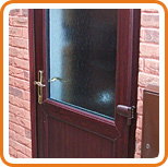 A photo of a UPVC back door