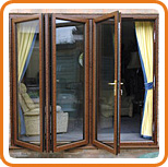 A photo of a UPVC bi-fold door