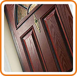 A photo of a composite door