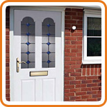 A photo of a UPVC front door