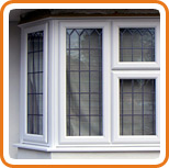 A photo of a bay window