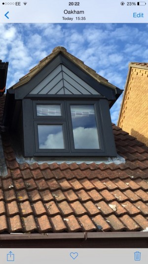 Photo: Just finished this job in Oakham, interesting and attractive use of fascias, soffits and cladding